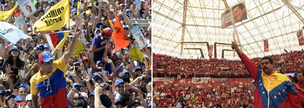 Emocional, campanha termina na Venezuela