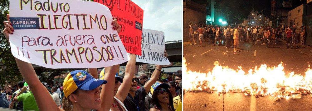 """Panelaço"" convocado por Capriles gera tumulto"