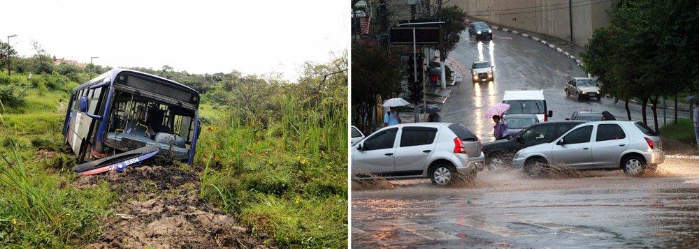 Chuvas fortes põem SP em estado de atenção