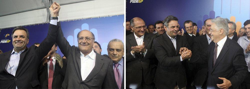 Com Alckmin, Aécio volta a SP para falar a prefeitos