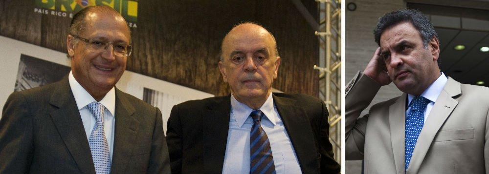 Serra prefere o silêncio a falar sobre Aécio e PSDB