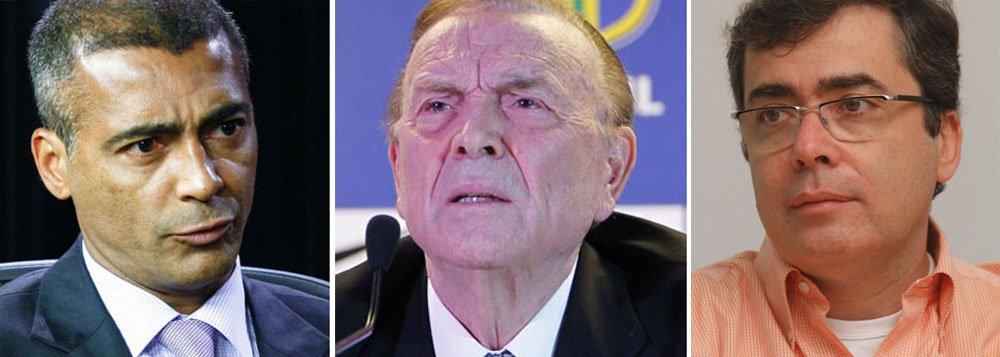 No aniversário do golpe, Romário desgasta Marin