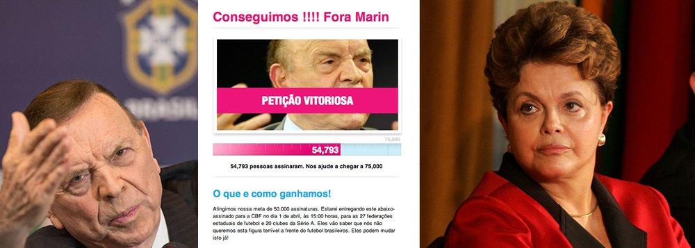 Marin tem não de Dilma; pressão na CBF aumenta