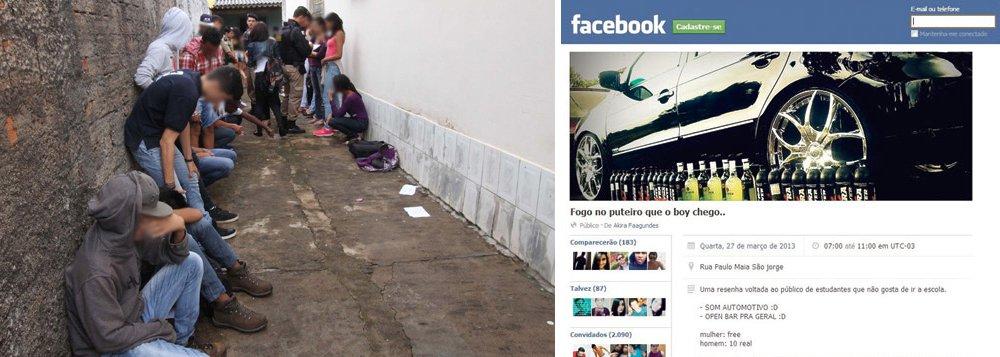 Em Uberlândia, pais retiram filhos apreendidos em festa