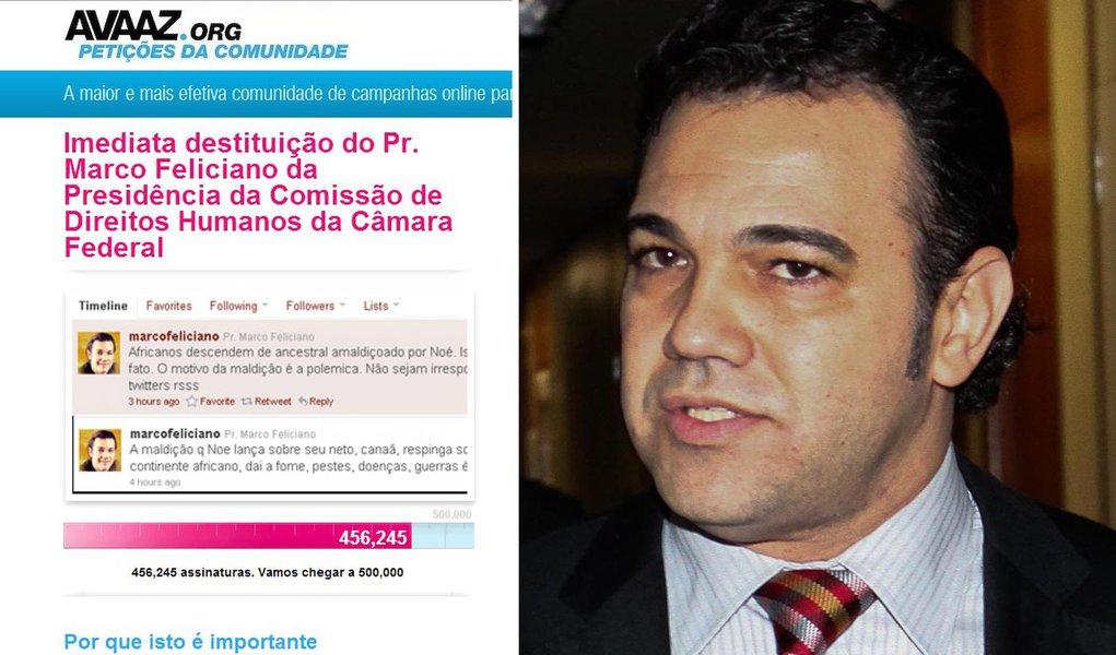Avaaz entrega petição contra Feliciano ao PSC