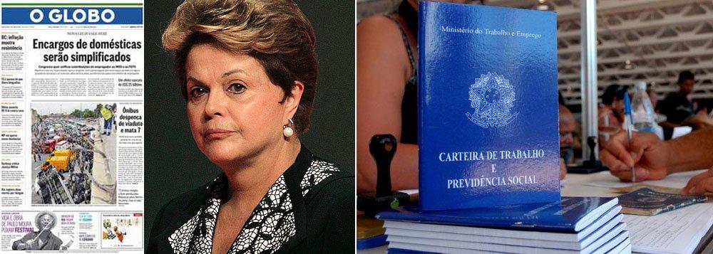 Globo acusa Dilma de colocar fogo no País