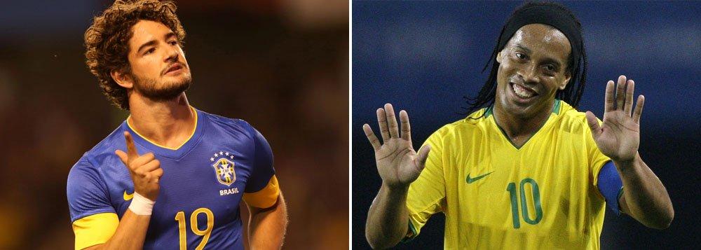Felipão convoca Pato e Ronaldinho para amistoso
