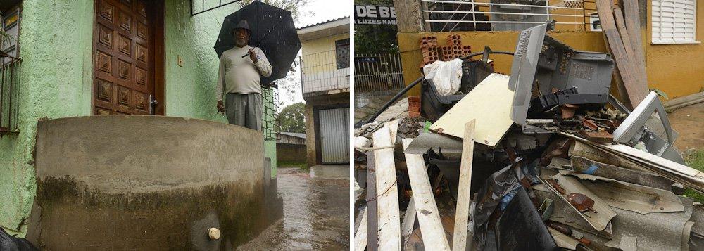 Moradores aguardam reparos em rede pluvial