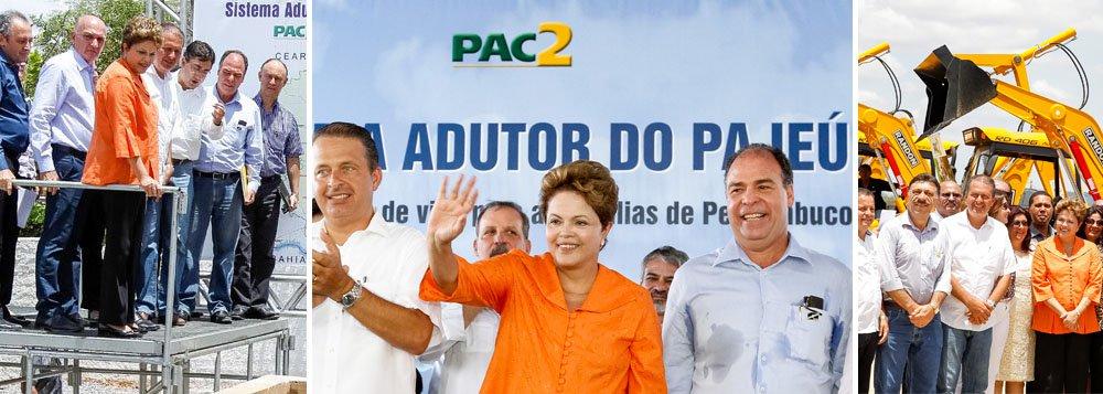 Dilma e Campos trocam gentilezas no sertão