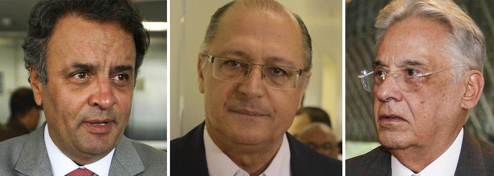 Com Alckmin e FHC, Aécio busca espaço no PSDB de SP