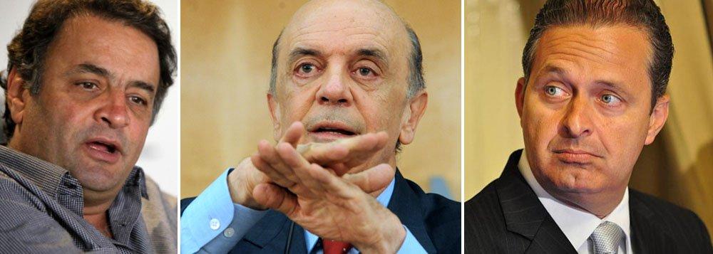"""Encontro de Serra e Eduardo """"assombra"""" Aécio"""