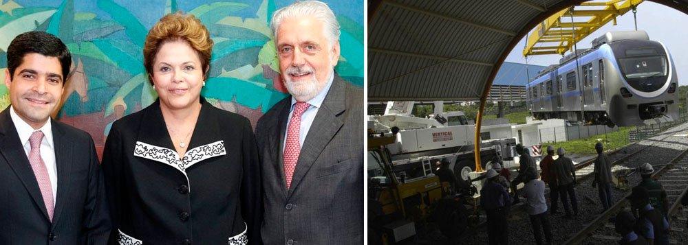 Wagner vai explicar maldição do metrô a Dilma