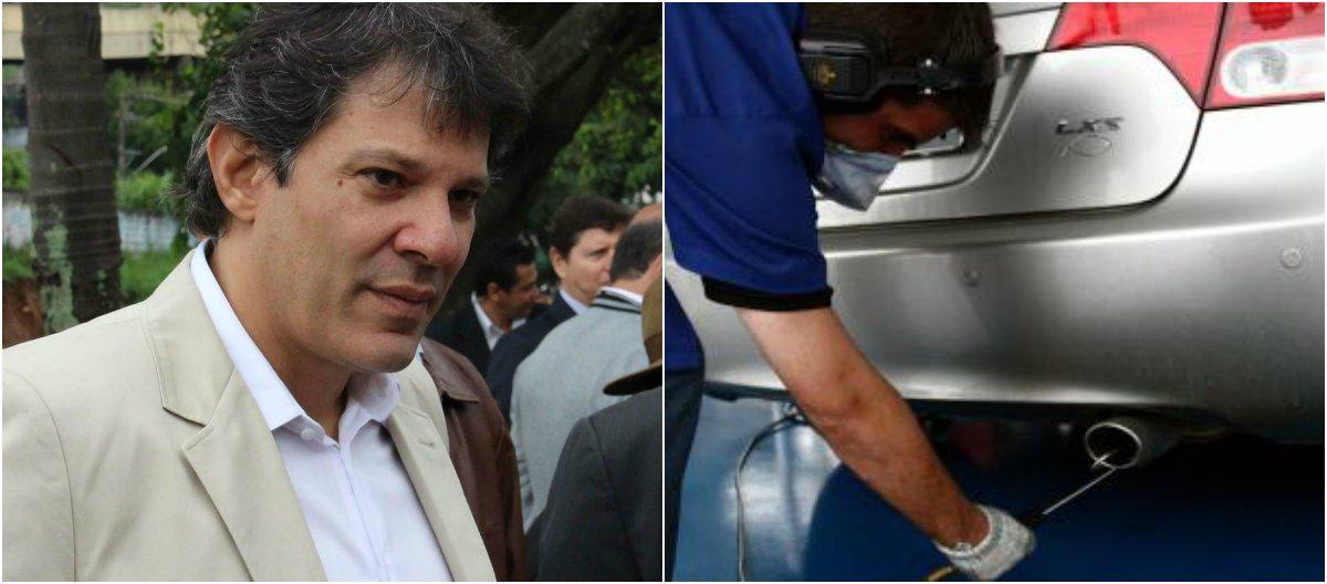 MP vai processar Haddad contra inspeção veicular