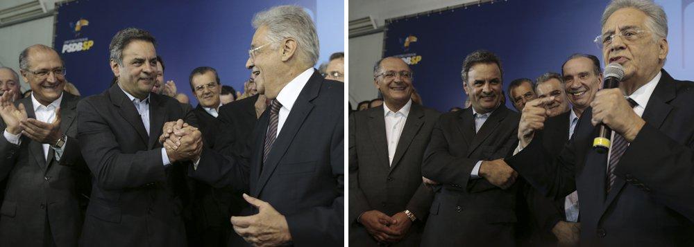PSDB paulista fecha com Aécio e pressiona Serra
