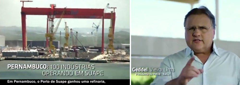 Contra PT, Geddel enaltece Eduardo Campos na TV