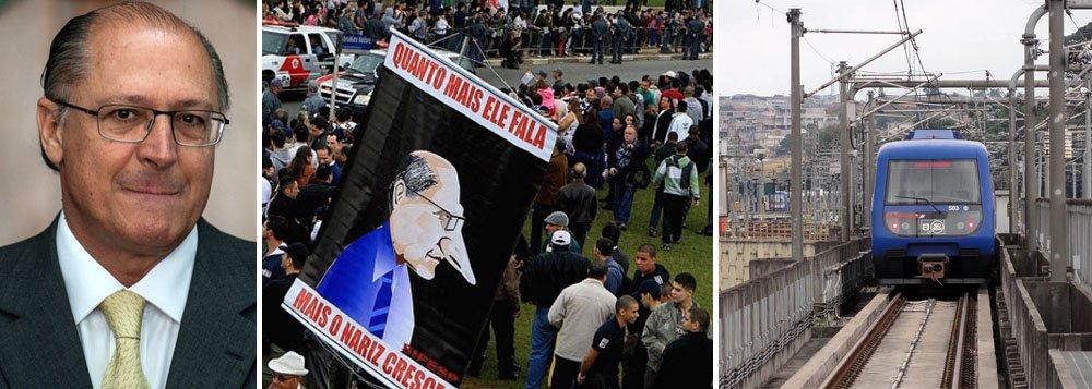 Com protestos e cartel, Alckmin teme 2014