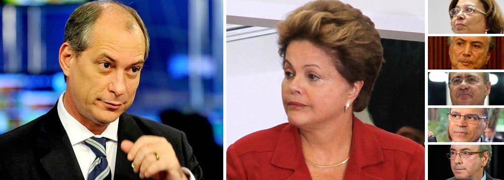 """Para Ciro, Dilma está cercada de """"incapazes"""""""