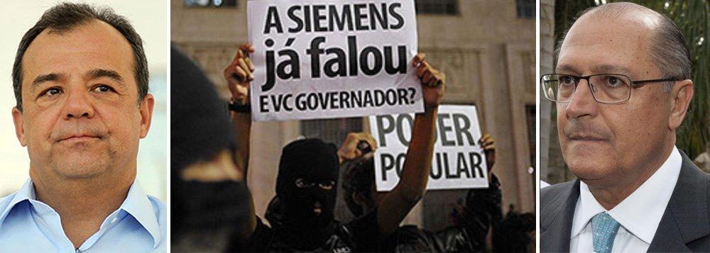 Depois de Cabral, Alckmin é o novo alvo das ruas