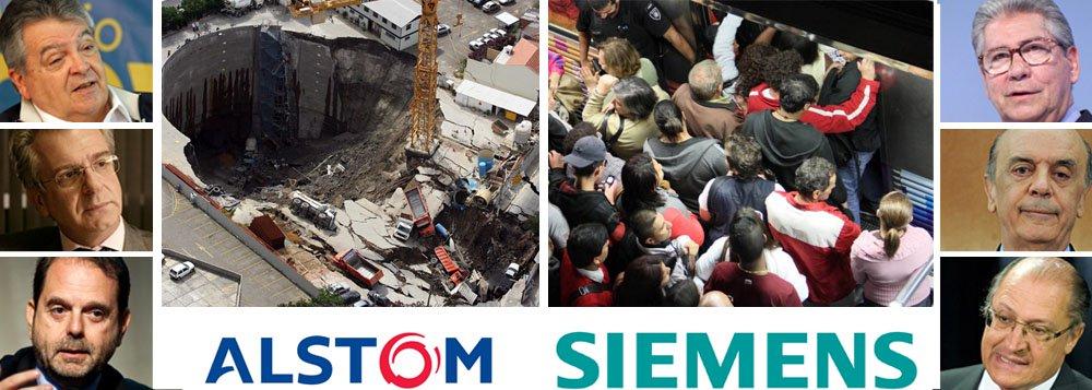 Agenda proibida do PSDB marca Alstom e Siemens