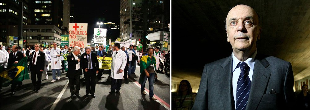 Serra volta à agenda do PSDB em ato médico