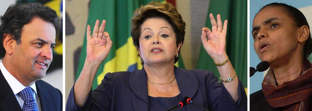 Avanço de Aécio e Marina preocupa o Planalto
