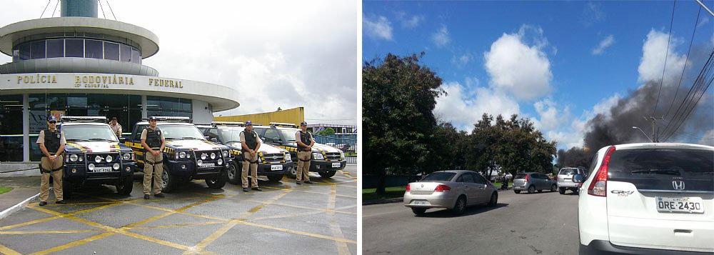Transportadores fecham rodovia em Maceió