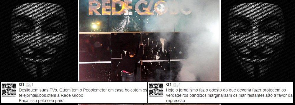 Depois de Veja, Anonymous protesta contra a Globo