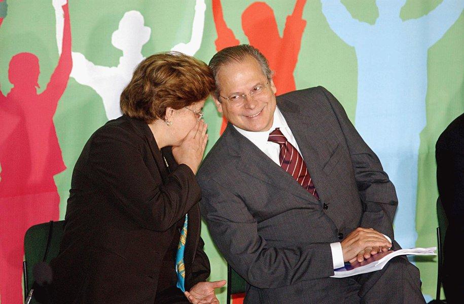 Dirceu reclama da ausência de Dilma em encontro do PT