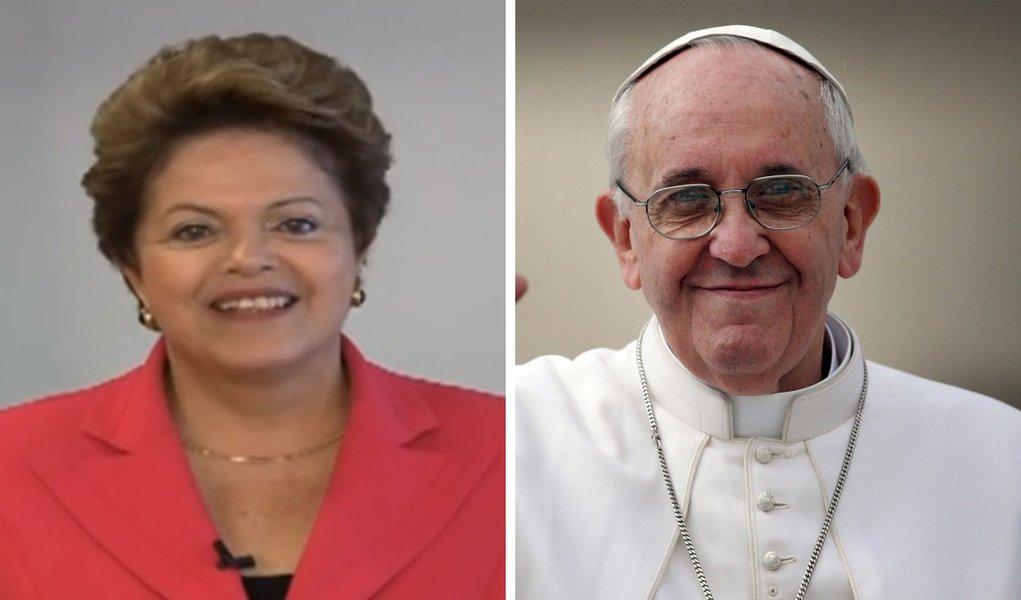 Dilma deseja boas vindas ao papa Francisco