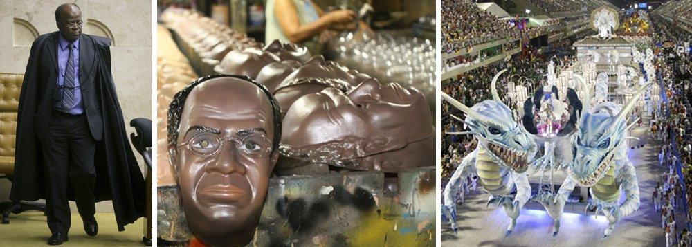 Máscaras de Barbosa foram o mico do Carnaval