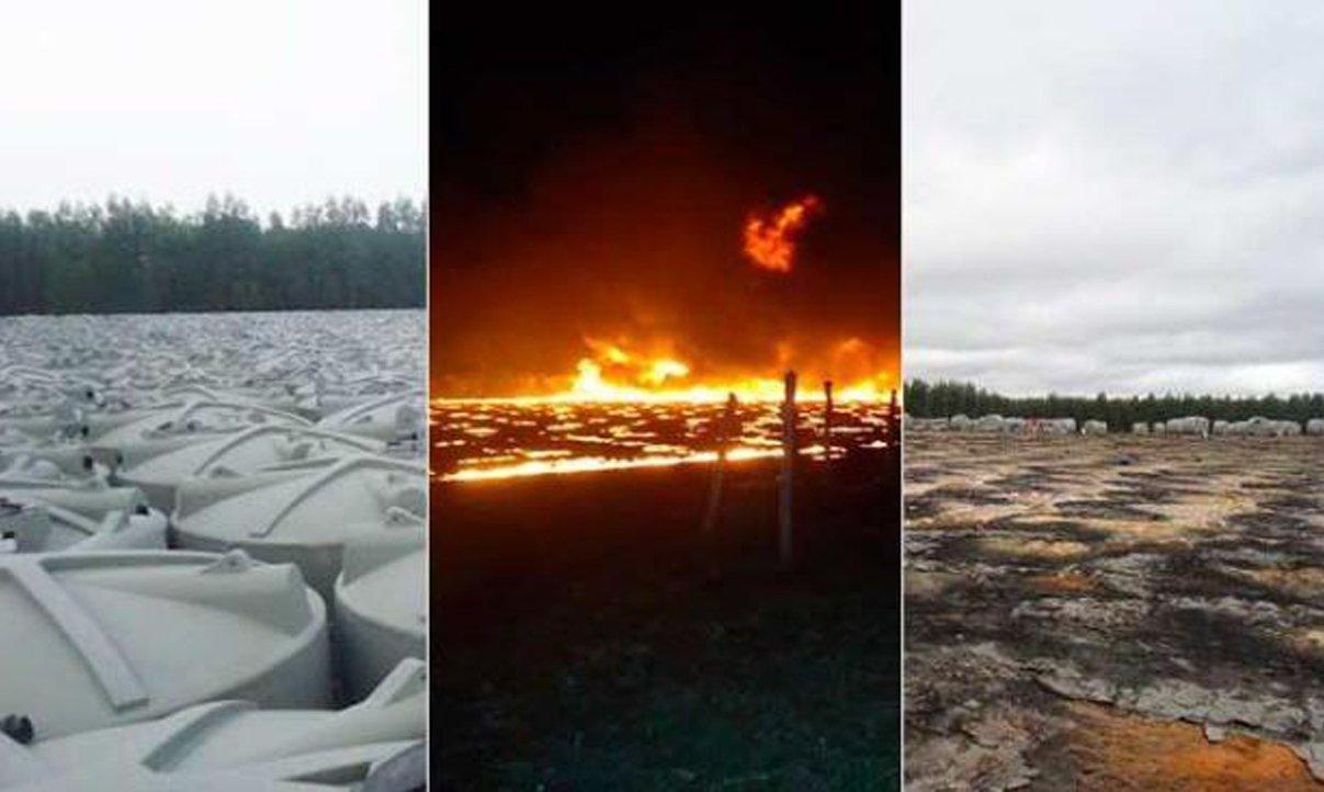 Seca: incêndio destrói mais de mil cisternas