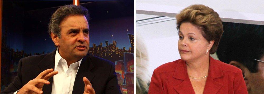 Aécio diz que PT é o maior problema de Dilma