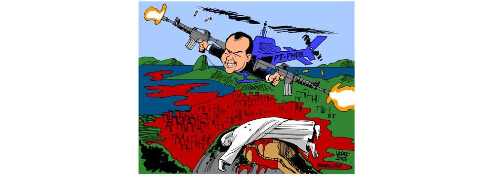 O olhar de Latuff sobre a PM de Cabral