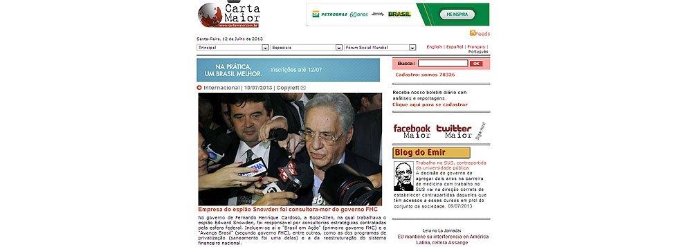 Carta Maior: Consultoria de Snowden era braço-direito de FHC