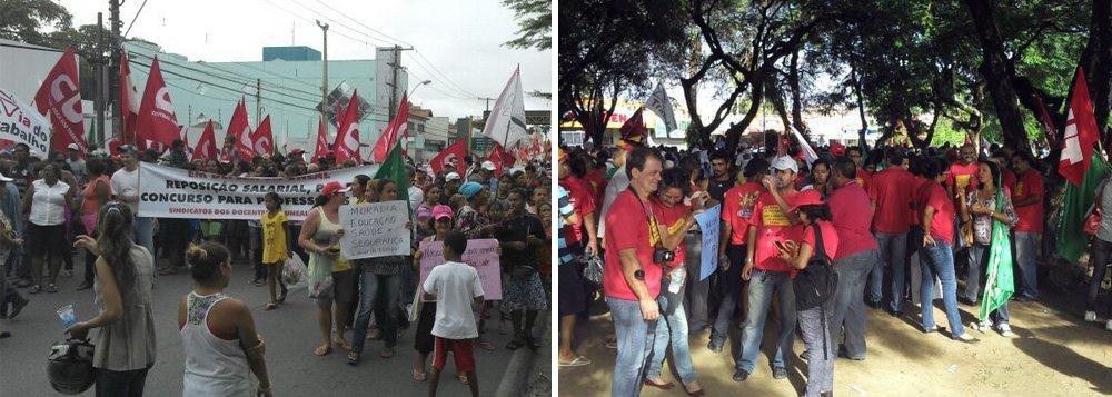 Mobilização leva milhares as ruas de Maceió