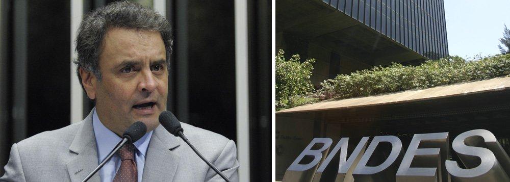 Aécio quer transparência nos empréstimos do BNDES