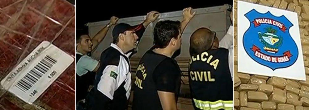 """Polícia flagra 4 toneladas de maconha """"certificada"""""""