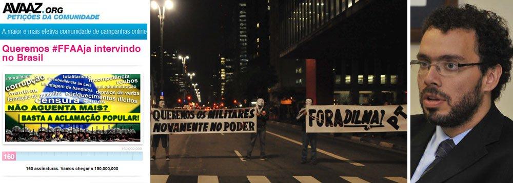 Avaaz libera manifestos por intervenção militar