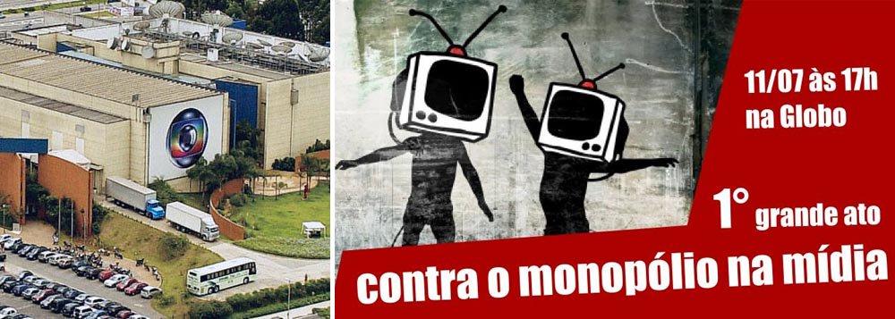 Globo vira alvo no Dia Nacional de Lutas