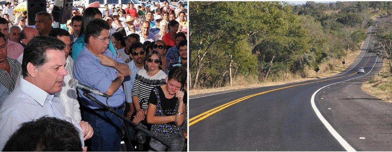 Perillo inaugura reforma da Rota do Araguaia