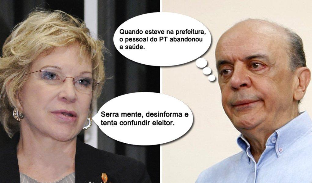 """Agora na campanha, Marta dispara: """"Serra mente"""""""