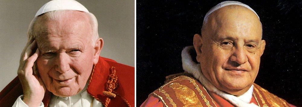 Papas João Paulo 2º e João 23 vão ser santificados