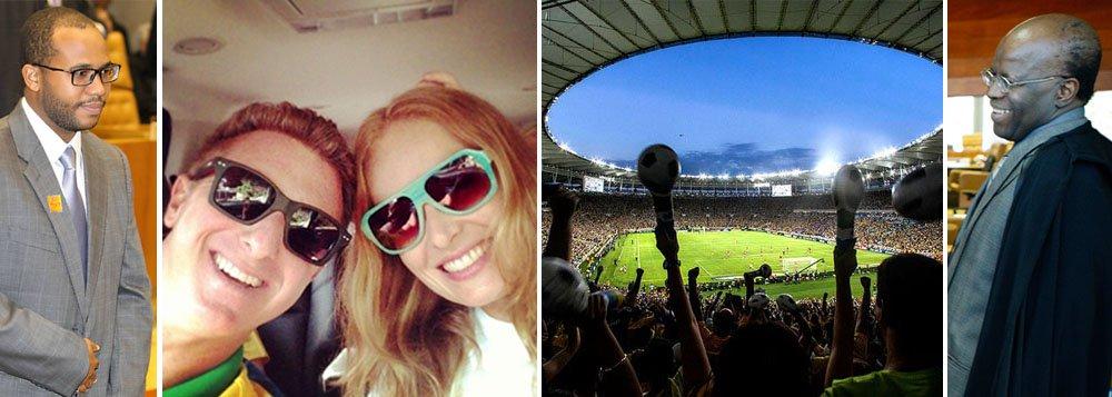 Barbosa: filho na Globo e viagens pagas pelo STF