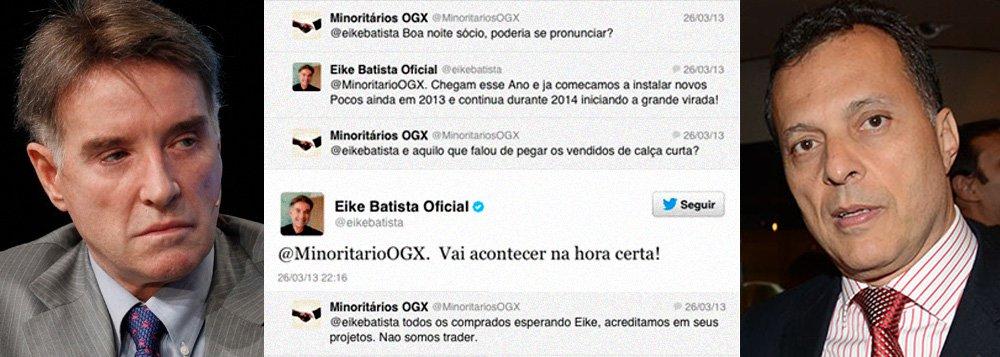 Falas de Eike no Twitter dariam cadeia nos EUA