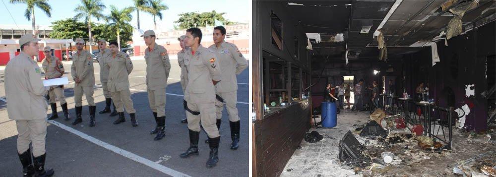 Bombeiros: pente-fino em casas de shows do Estado