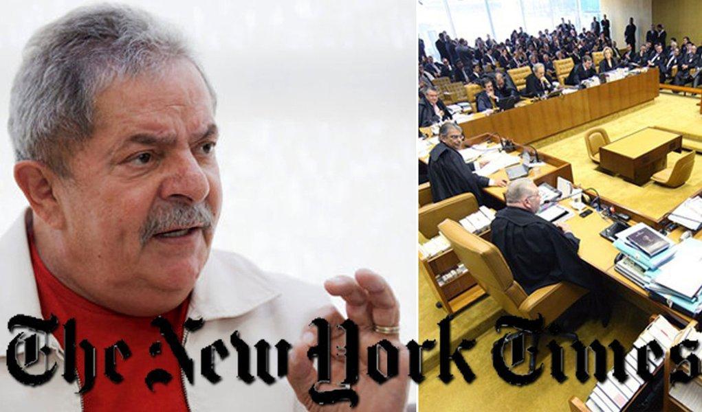 """Lula ao New York Times: """"Não houve mensalão"""""""