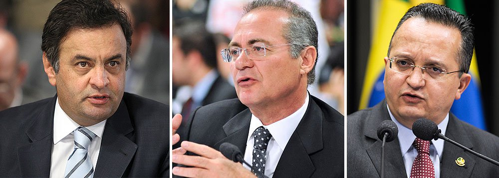 Aécio defende Taques contra Renan no Senado