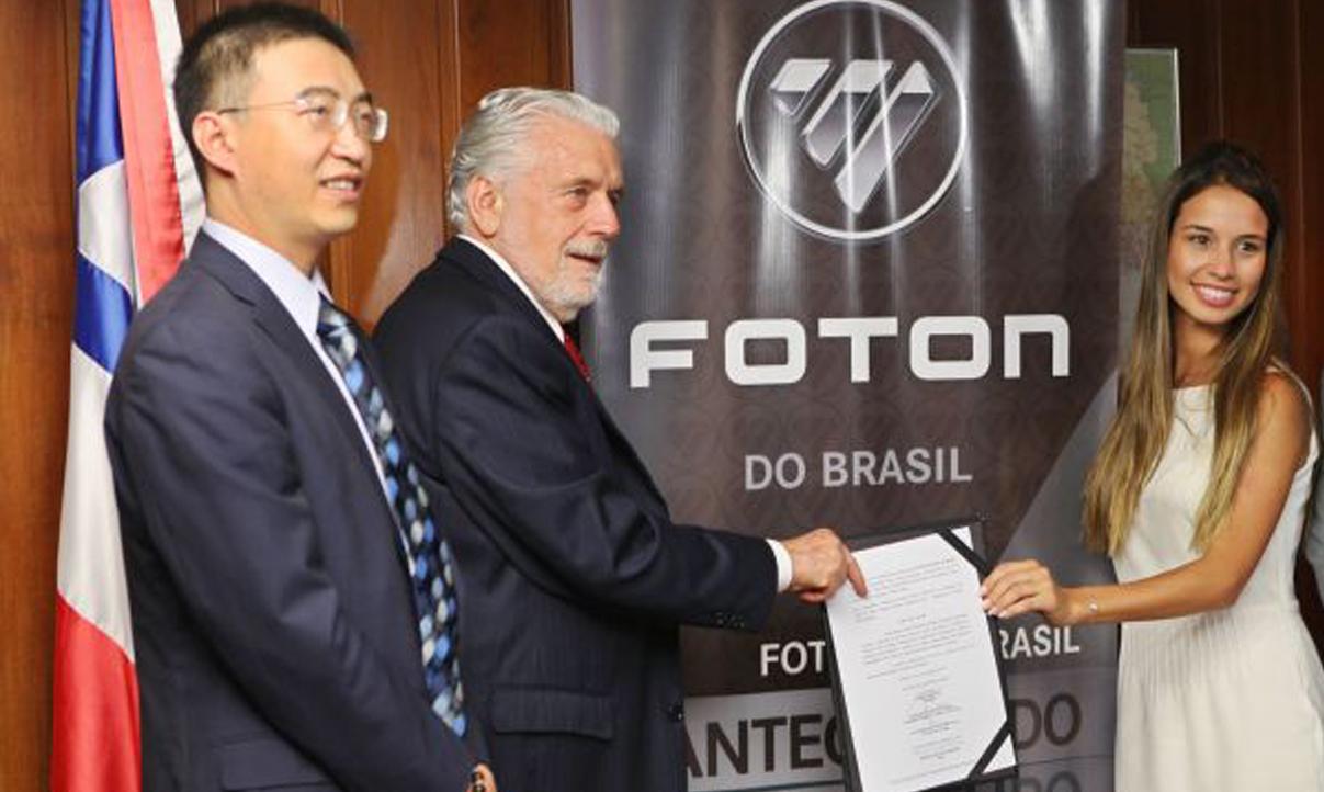 Foton Motors vai instalar unidade na Bahia