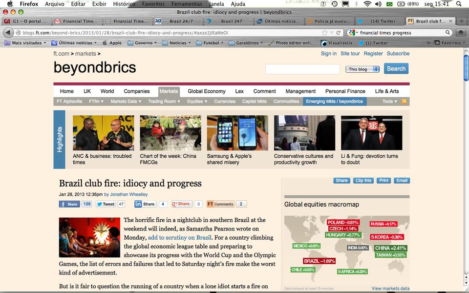 """Financial Times sobre Santa Maria: """"Idiotia e Progresso"""""""