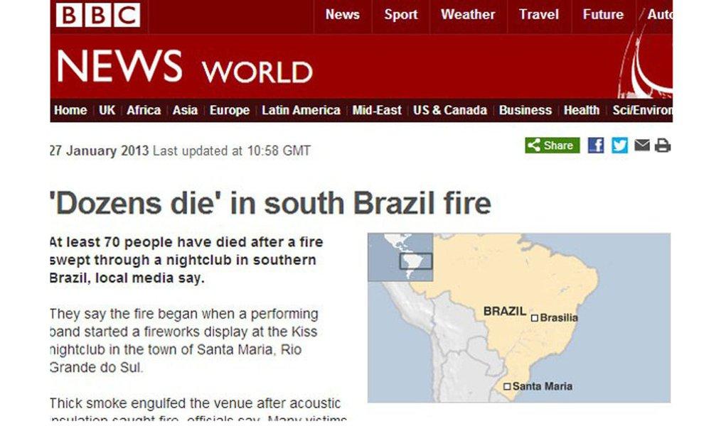 BBC já questiona capacidade do Brasil para Copa